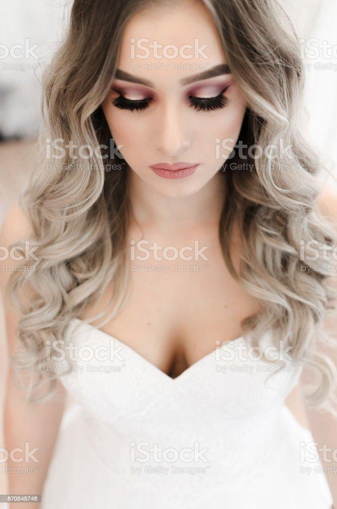 Noiva mulher de retrato - foto de acervo