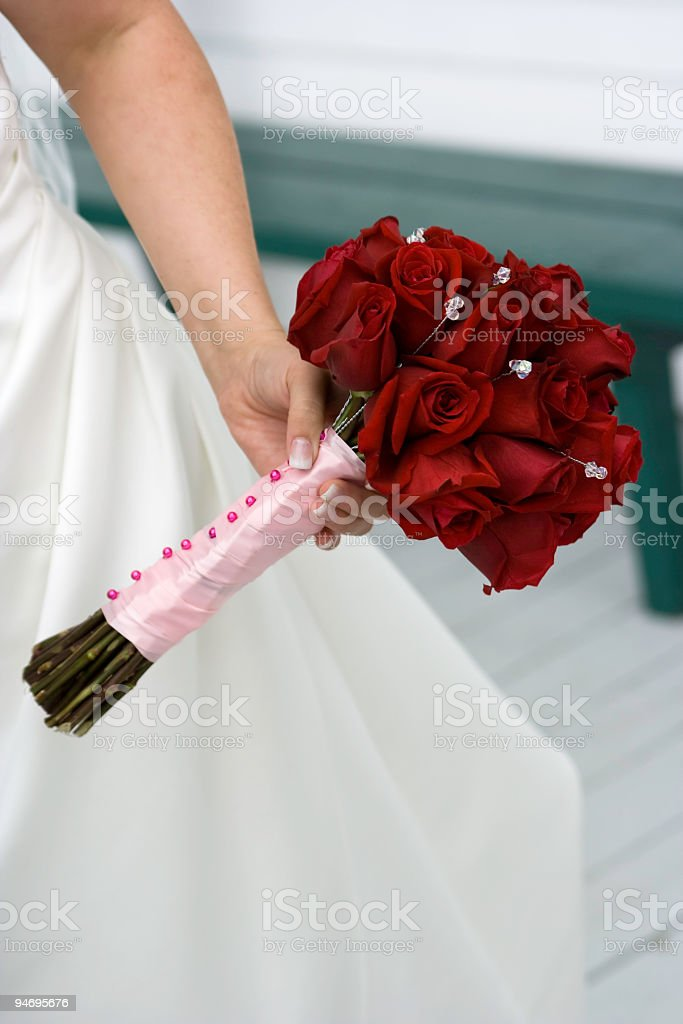 Bride's Bouquet in Hand royalty-free stock photo