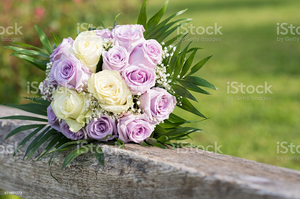 Bride's Bouquet of Flowers royalty-free stock photo