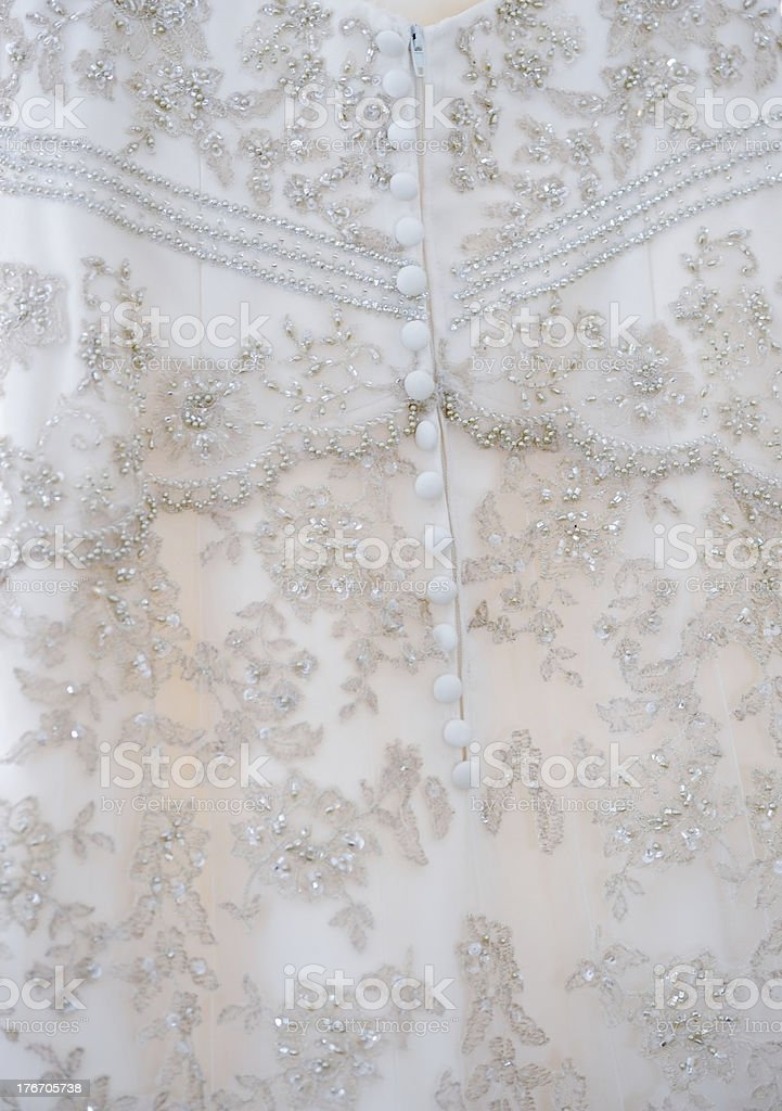 Brides dress detail royalty-free stock photo
