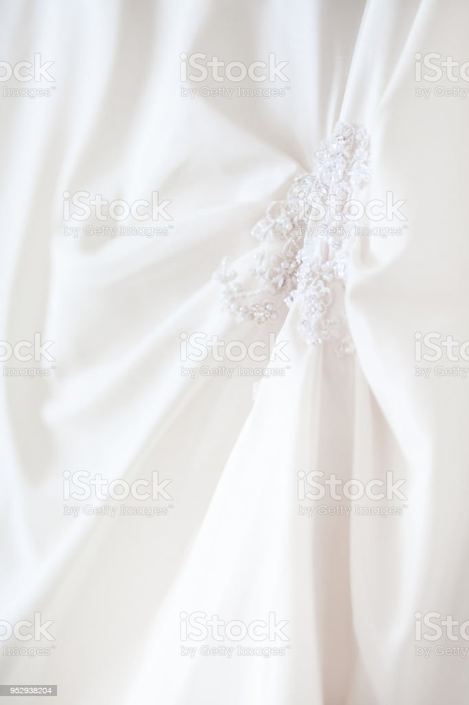Brides Dress With Embroidered Elements And Beads Bridal