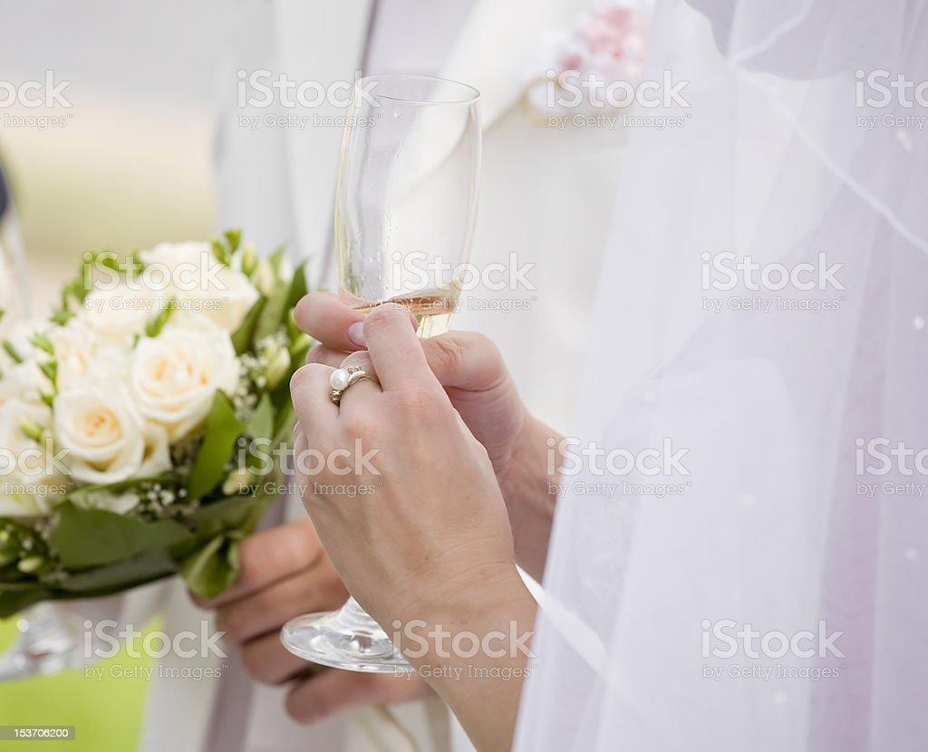 Bride's excitement royalty-free stock photo