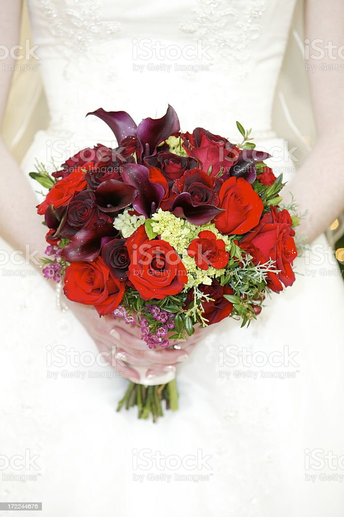 brides flowers royalty-free stock photo