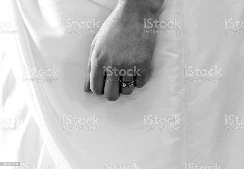 Brides Hand royalty-free stock photo
