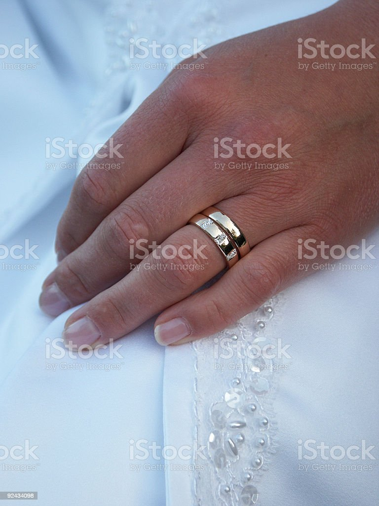 Brides hand stock photo