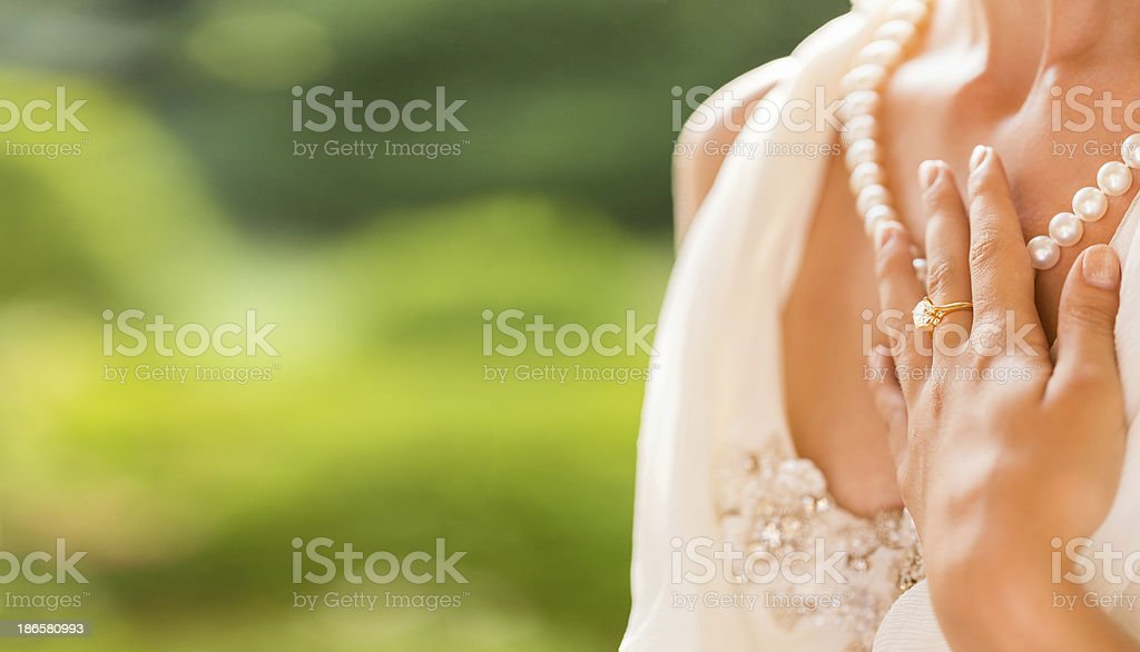 Bride's Jewelry royalty-free stock photo