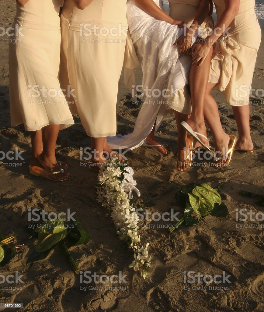 Brides just wanna have fun royalty-free stock photo