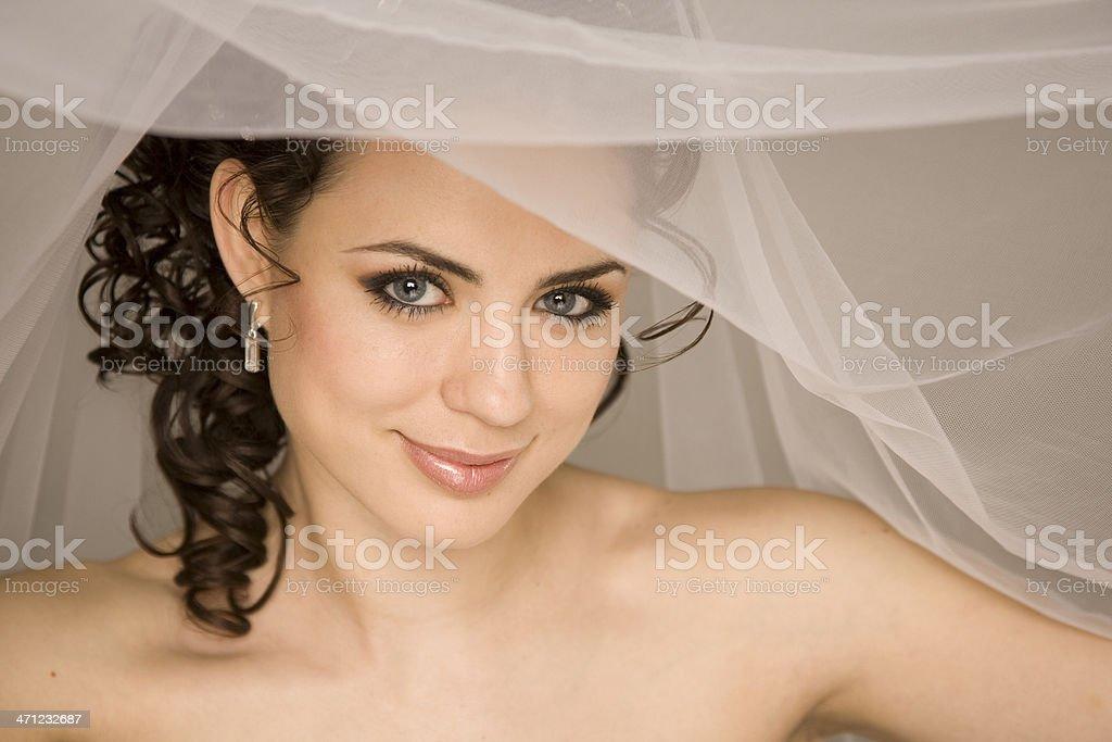 Brides look stock photo