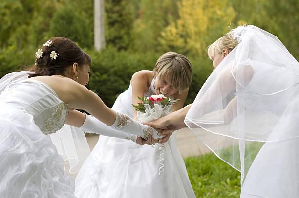 Brides. stock photo