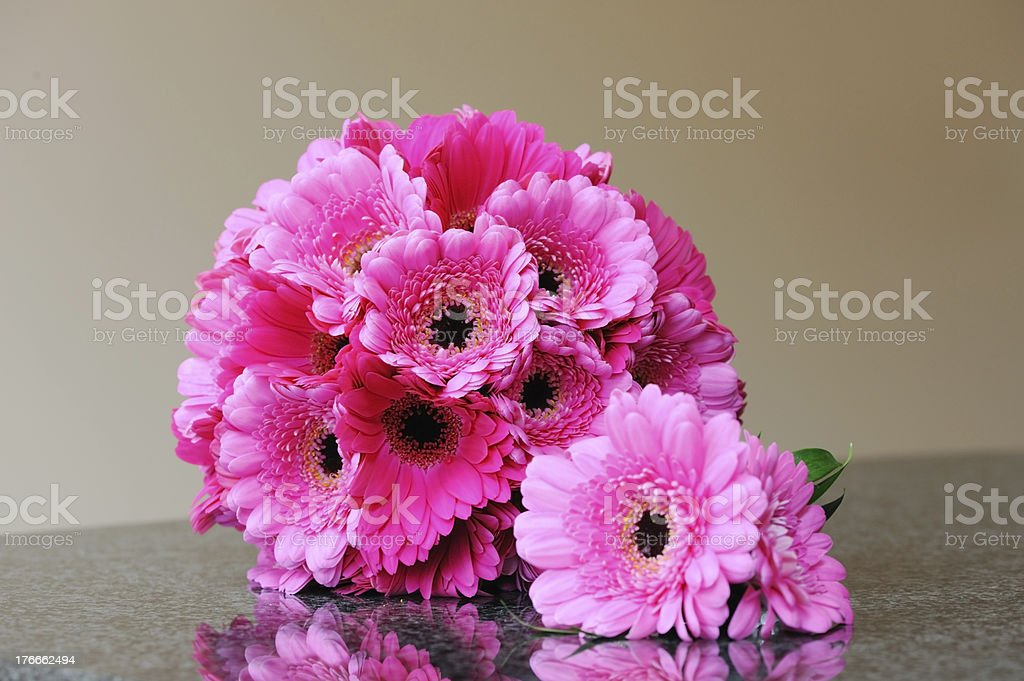 Brides Pink Flowers royalty-free stock photo