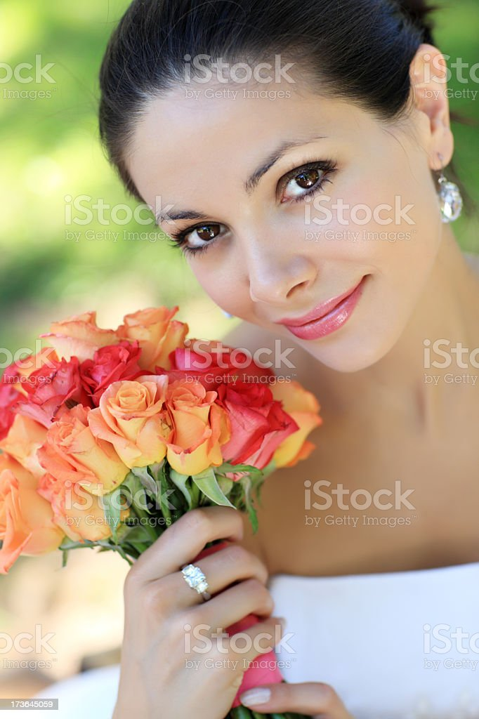 Bride's portrait royalty-free stock photo