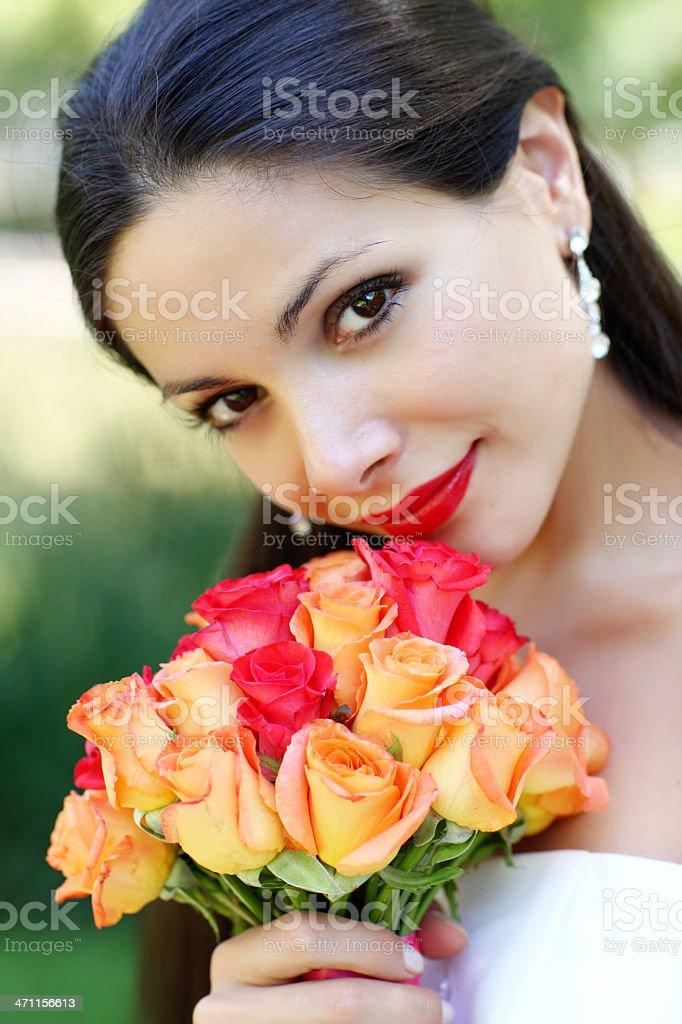 Noiva de retrato - foto de acervo