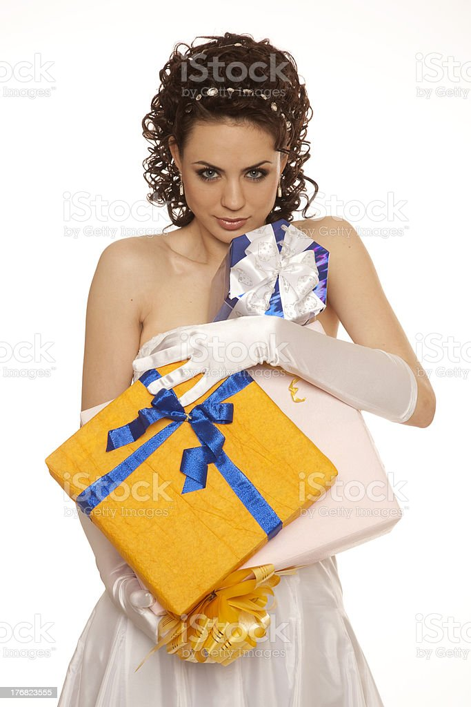Brides presents stock photo