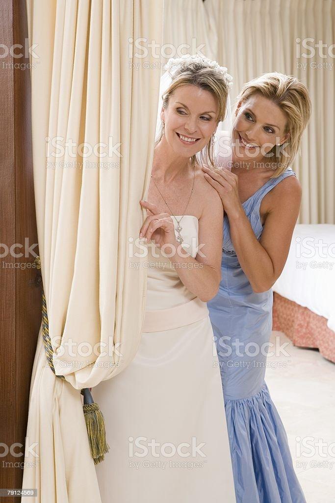 신부 들러리 및 호텔 하녀 of honour royalty-free 스톡 사진