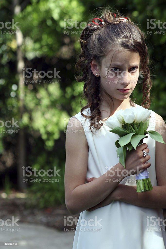 Bridesmaid in waiting royalty-free stock photo