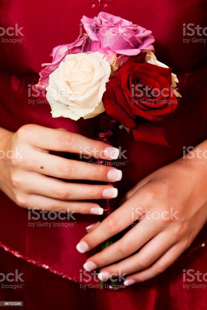 Bridesmaid royalty-free stock photo