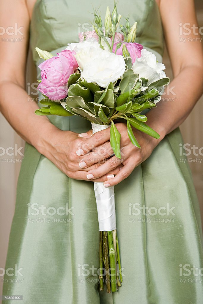 Bridesmaid with bouquet 免版稅 stock photo