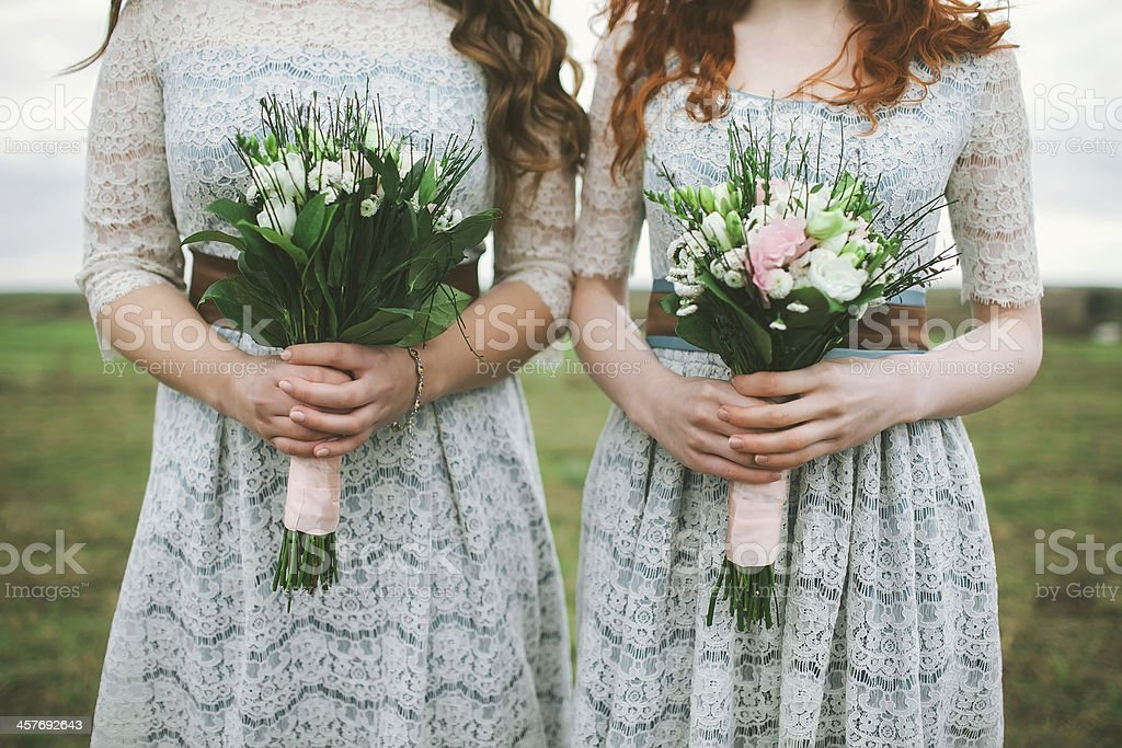 Bridesmaids stock photo
