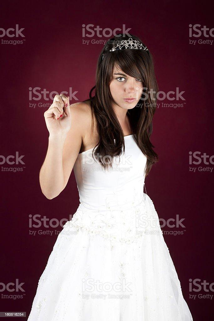 Bridezilla. stock photo