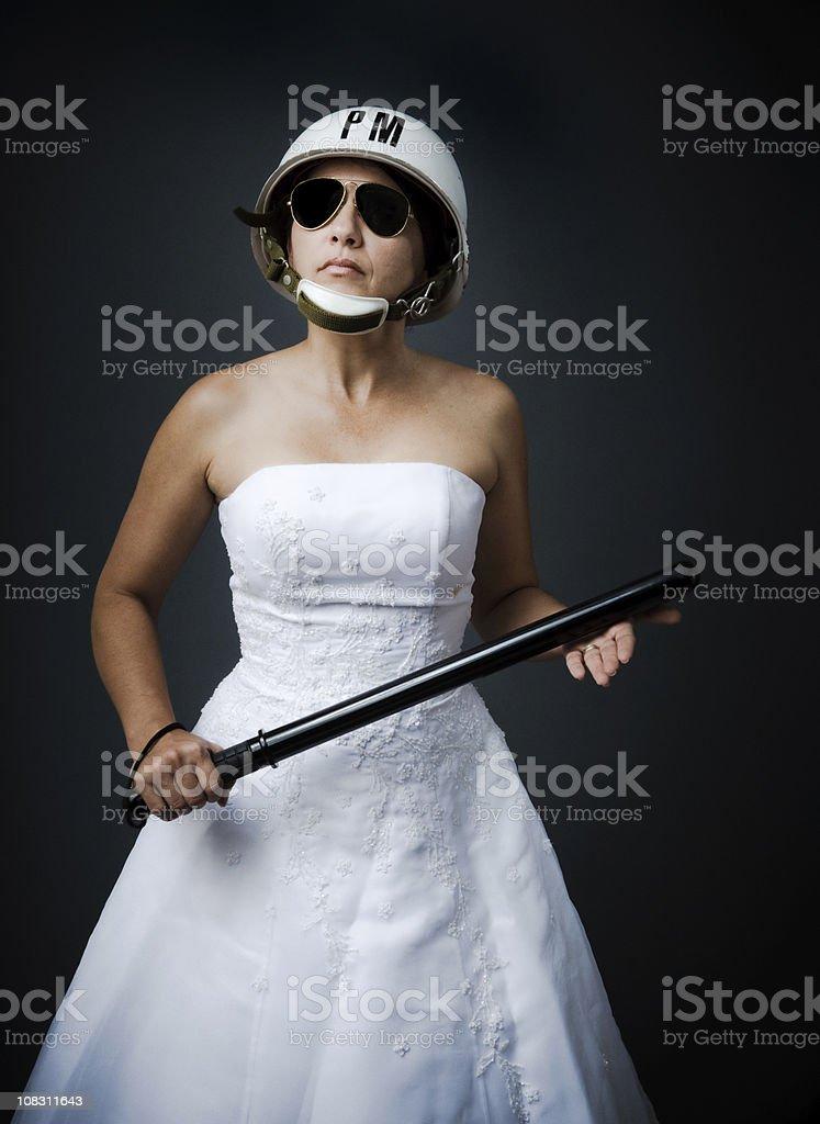 bridezilla the control freak bride stock photo
