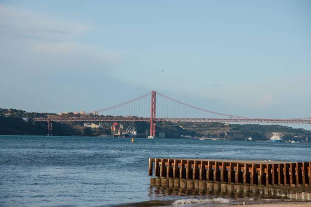 Bridge 25 de Abril, Lisbon stock photo