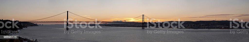 bridge 25 de Abril on river Tagus, Lisbon royalty-free stock photo