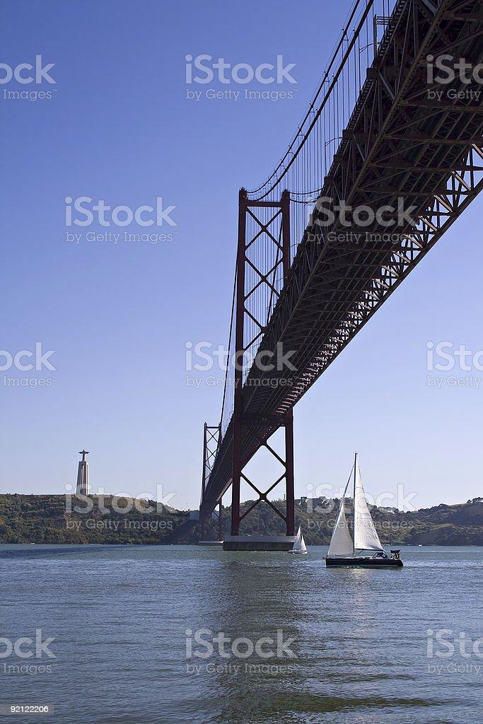 Bridge 25 of April stock photo