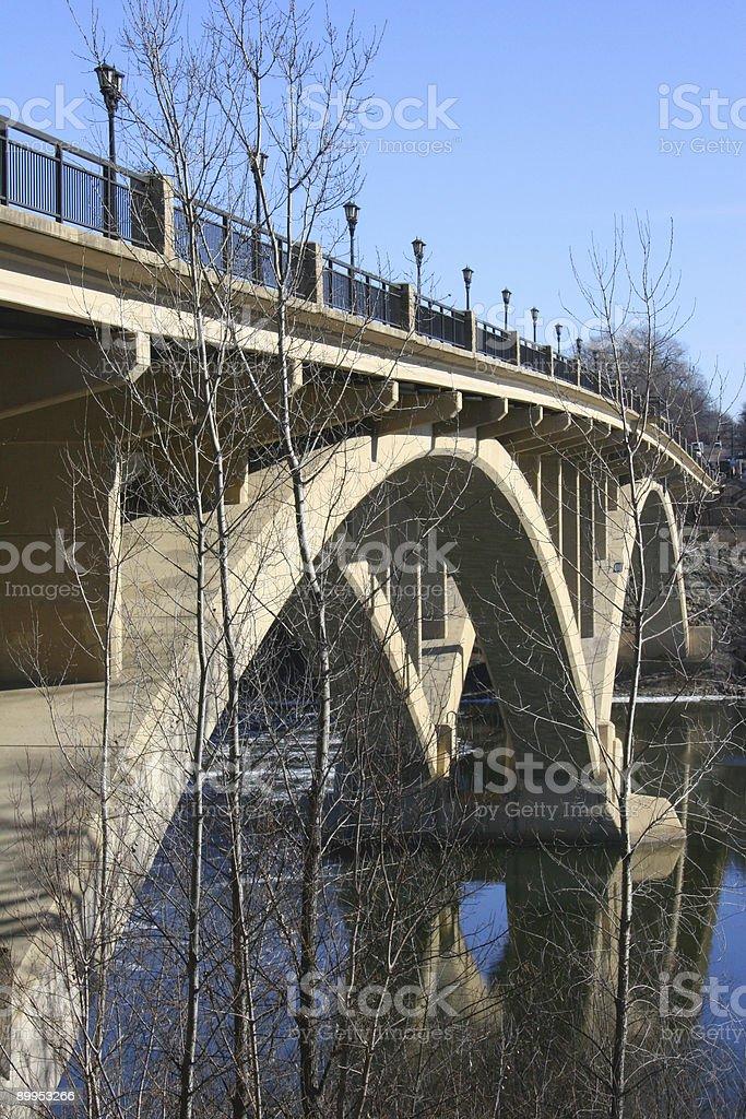 Bridge across the Mississippi royalty-free stock photo