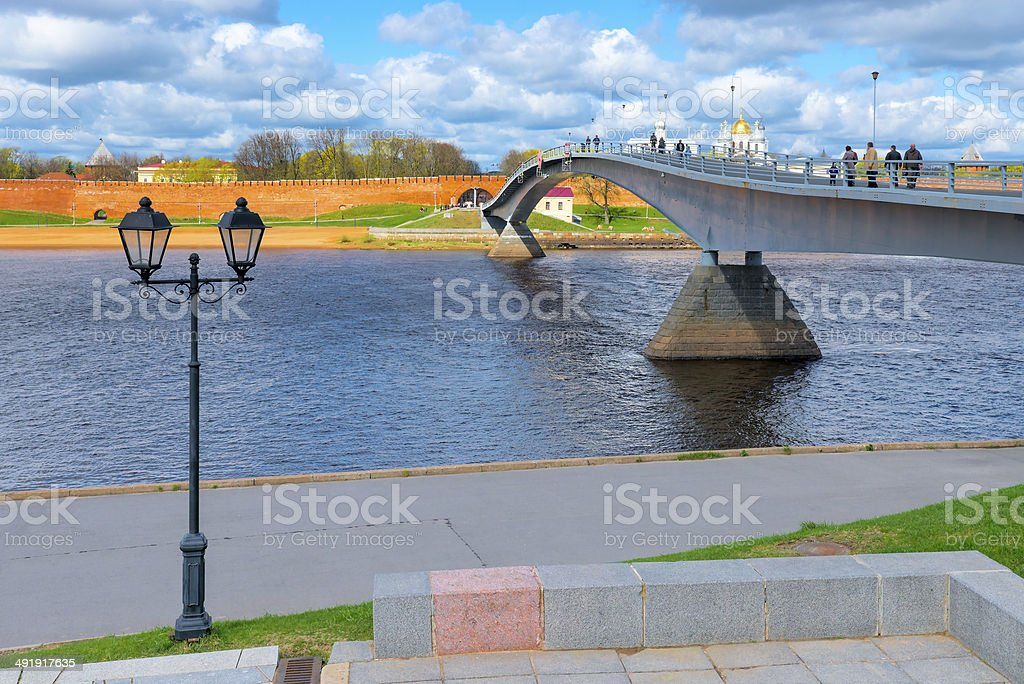 bridge across the river leads to  Kremlin royalty-free stock photo