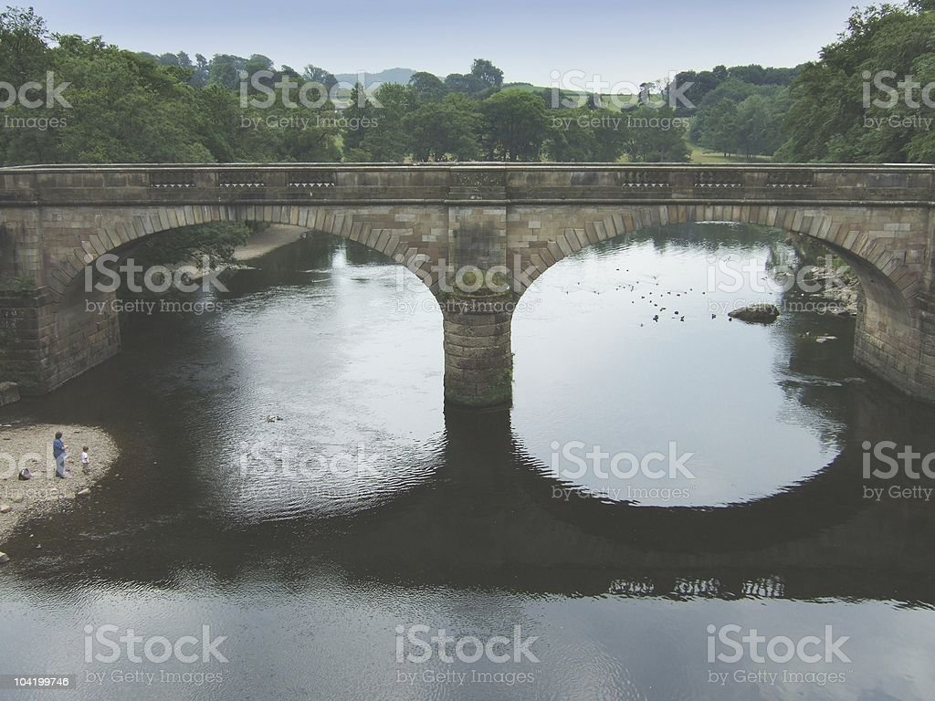 Bridge across the river Lune royalty-free stock photo