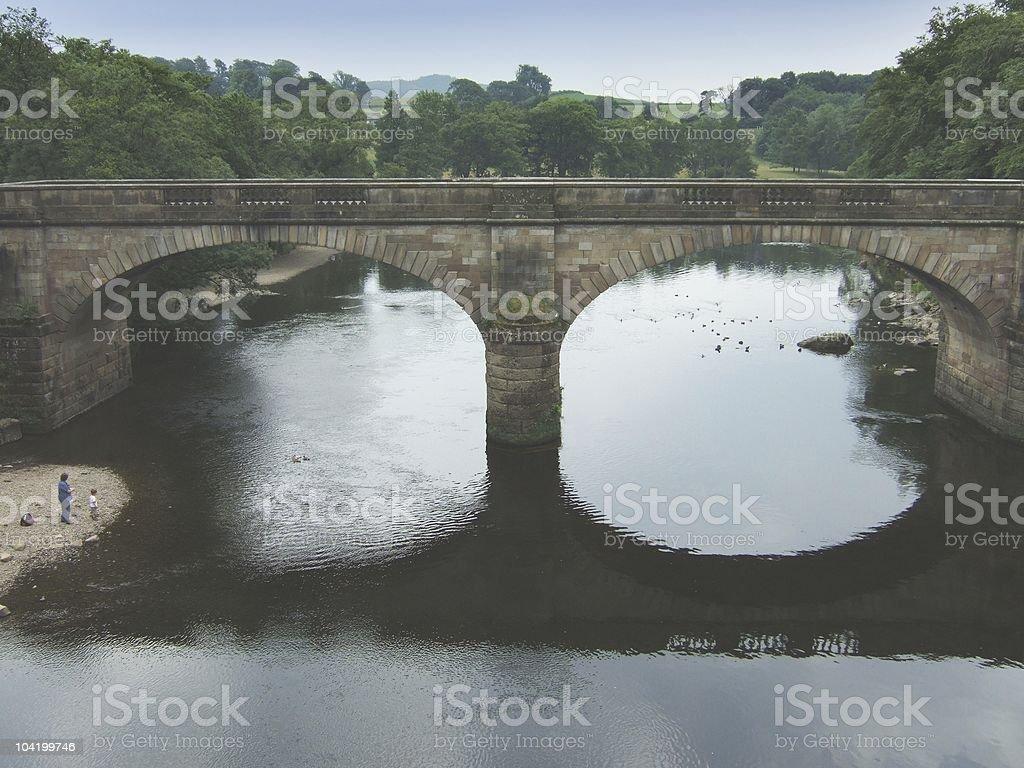 Bridge across the river Lune stock photo