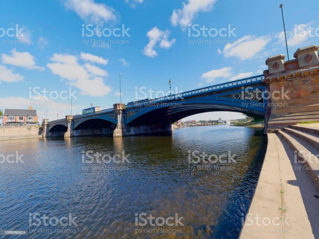 A bridge across the River Trent stock photo