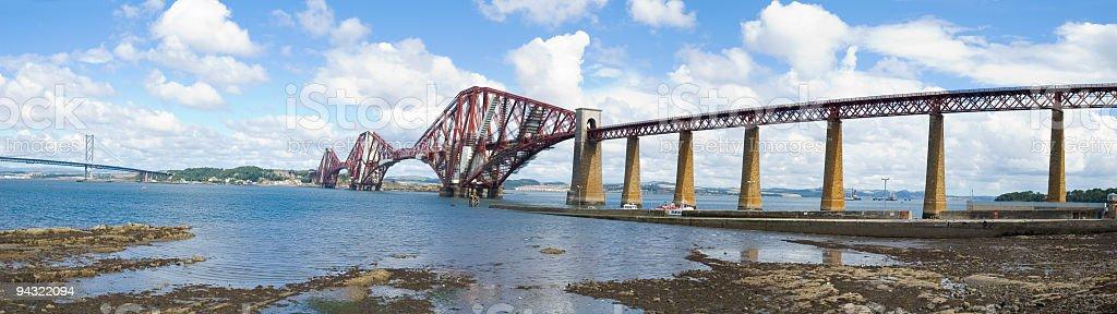 Bridge and estuary panorama royalty-free stock photo