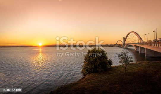 JK Bridge and Paranoa Lake at Sunset - Brasilia, Distrito Federal, Brazil