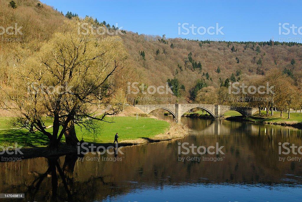 Pont de la rivière et du paysage Bouillon - Photo