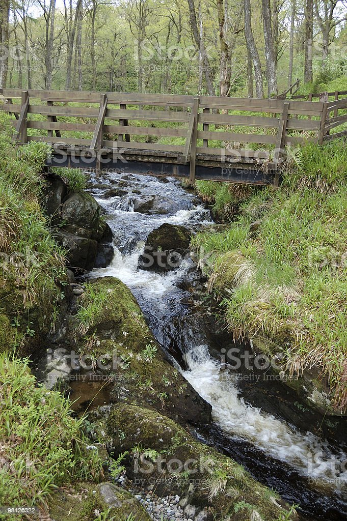 Bridge and waterfall royalty-free stock photo