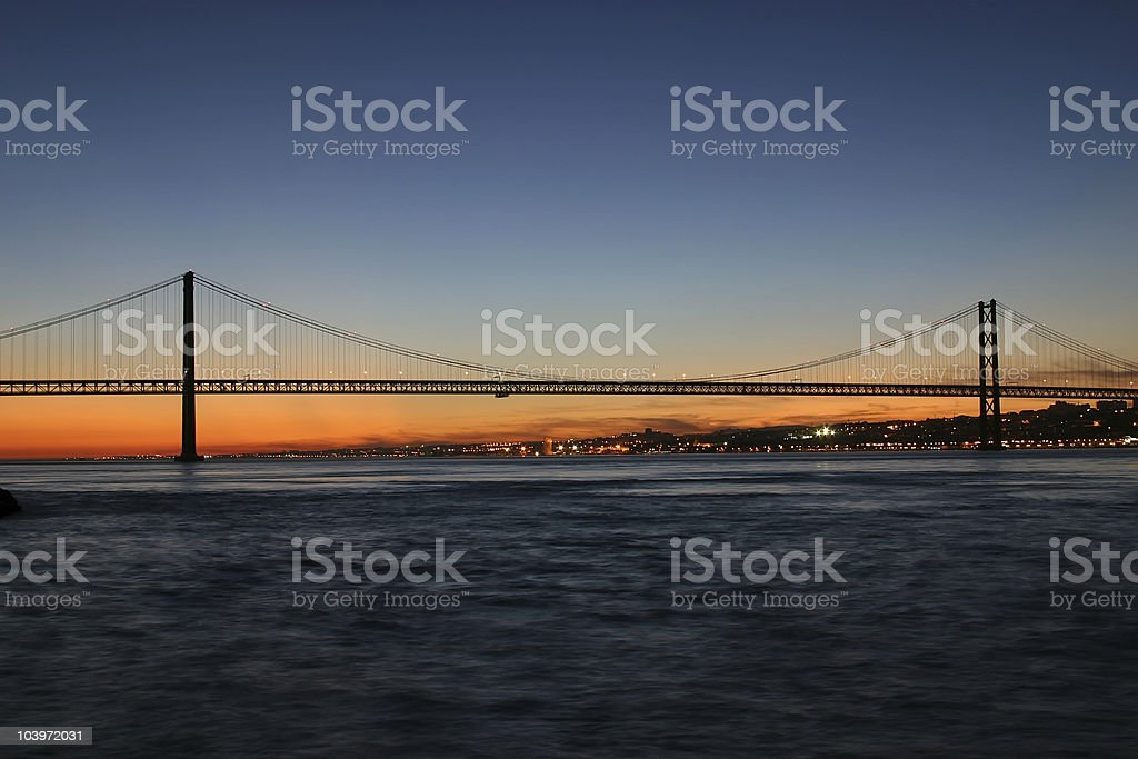 bridge 25 de Abril stock photo