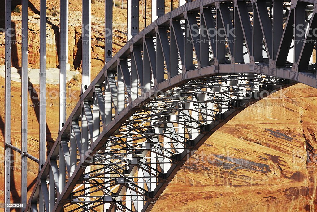 Bridge Arch Glen Canyon Dam royalty-free stock photo