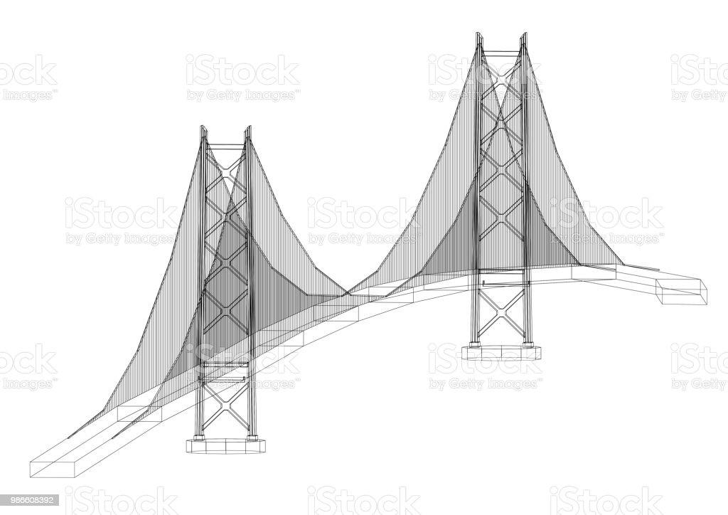 Brücke-Architekt-Entwurf - isoliert – Foto