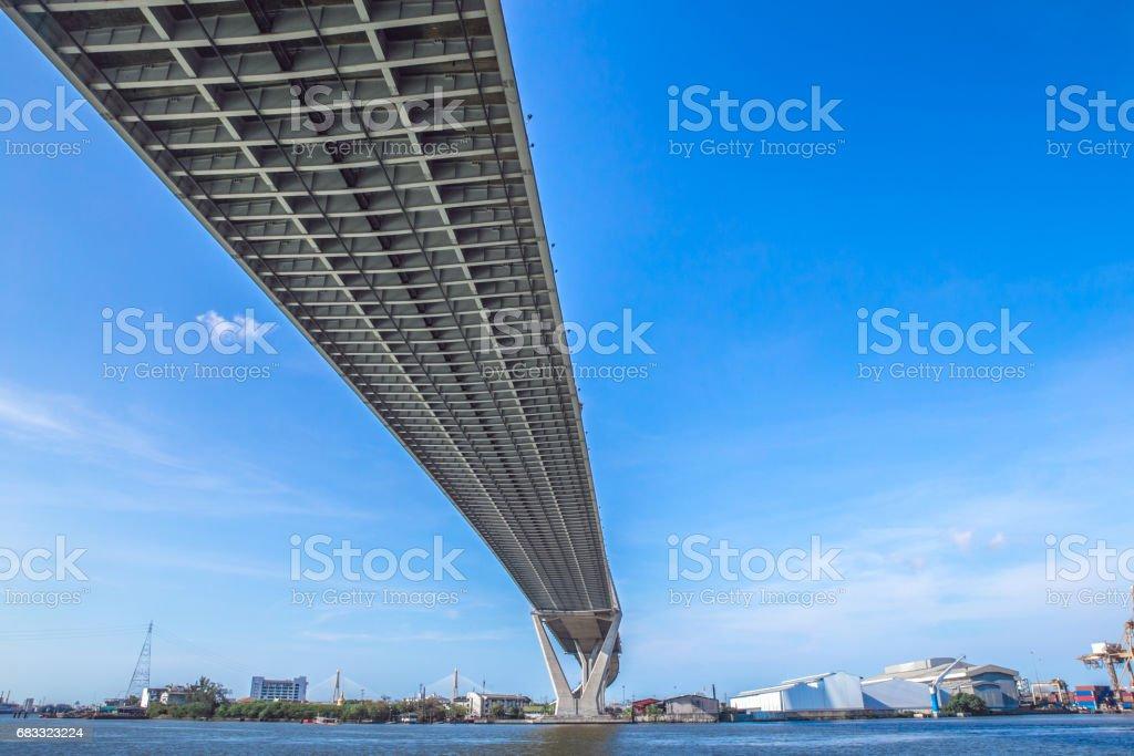 Bridge. Arkitektur linjer under bron, förhöjda expressway, bangkok, thailand royaltyfri bildbanksbilder