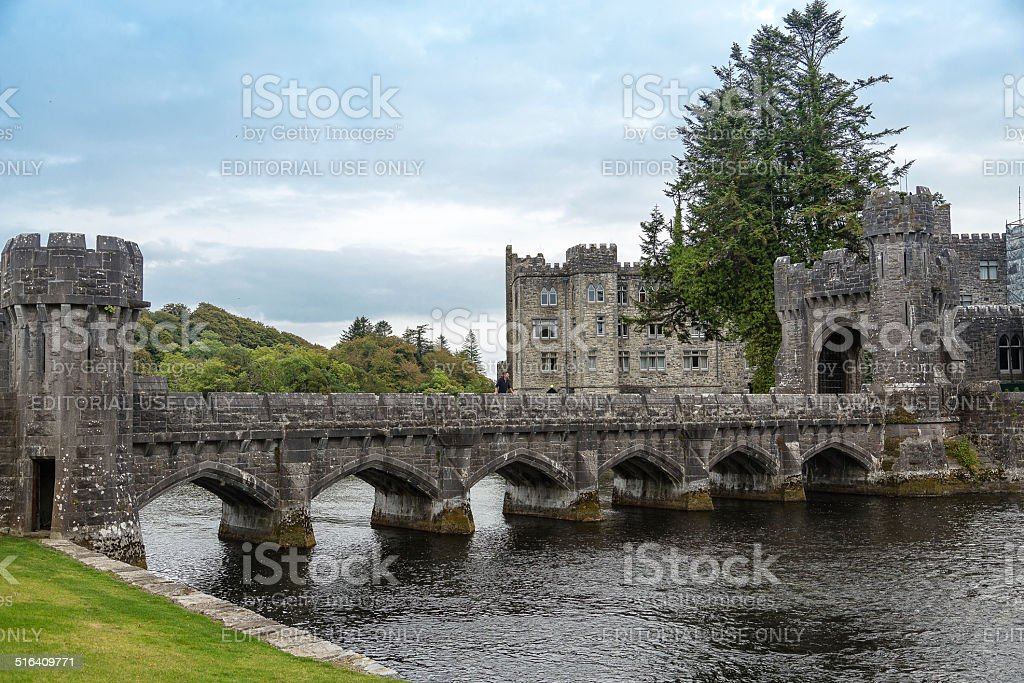 Bridge Ashford Castle stock photo