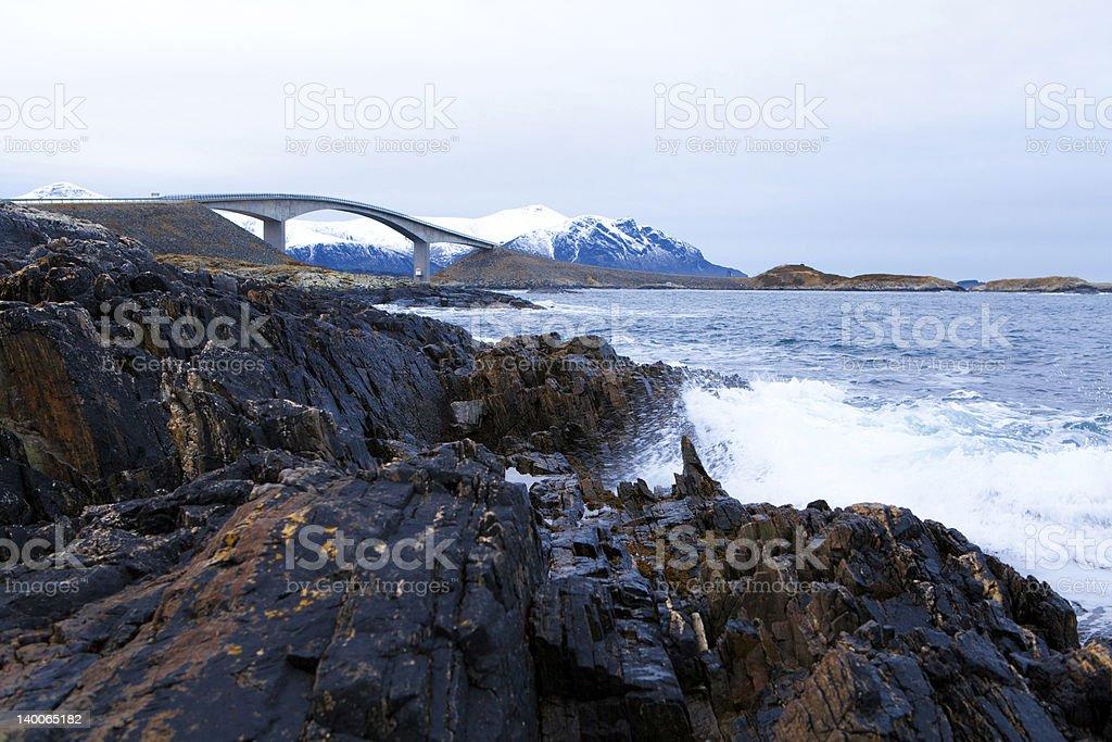 Bridge at atlantic road stock photo