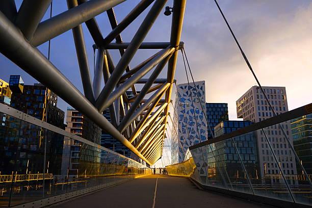 Bridge at Barcode in Oslo stock photo