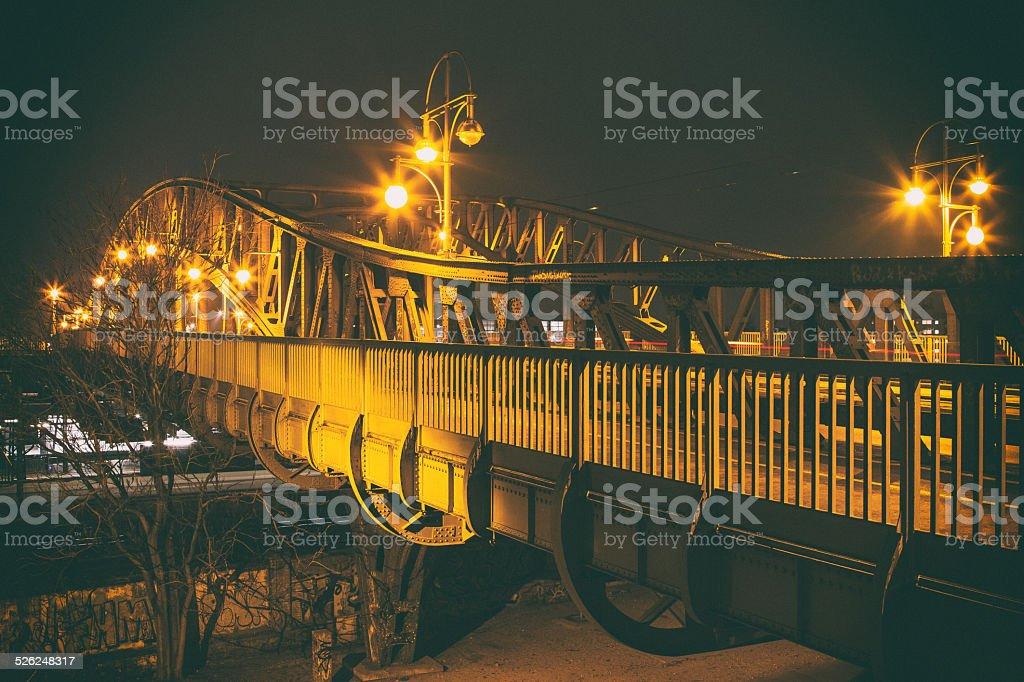 Bridge at Bornholmer Strasse stock photo