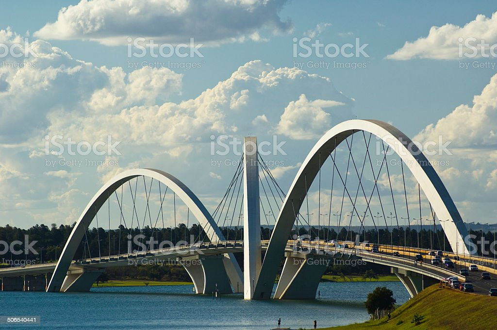 JK Bridge at Brasilia, Brazil stock photo