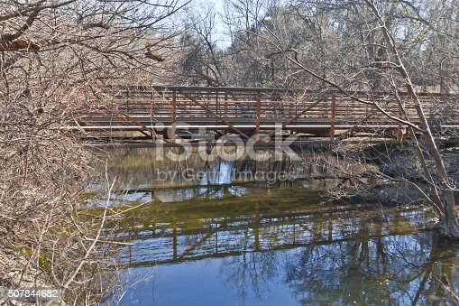 istock Bridge at Brushy Creek Regional Trail 507844682