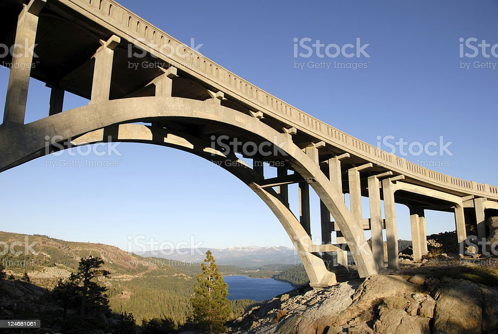 Bridge at Donner Summit stock photo