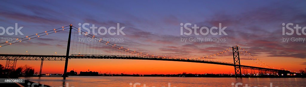 Bridge at Dusk stock photo