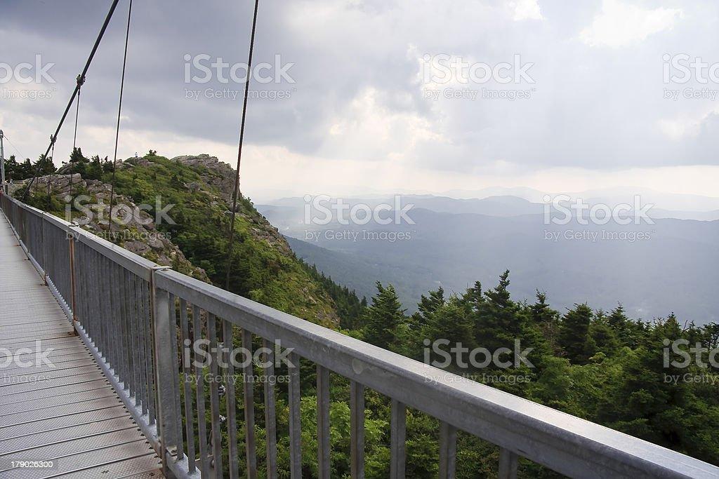 Bridge at Grandfather Mountain stock photo