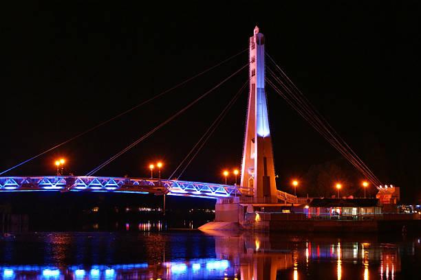 夜の橋 - クラスノダール市 ストックフォトと画像